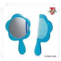 Beauty Set Glitter Cosmetic Mirror & Small Comb Manufactures