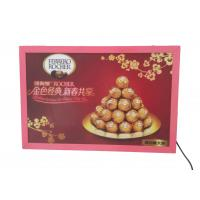 Wholesale A2 Thin Flat Snap Frame Led Light Box Pink Color Backlit For Hotel Advertiising from china suppliers