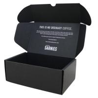 Wholesale Postal Mailer Subscription Printed Shipping Boxes Custom Black Kraft Packaging from china suppliers