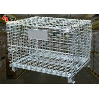 Buy cheap Collapsible Steel Wire Containers Grid Storage Cage Car For Special Materials In Warehouse from wholesalers