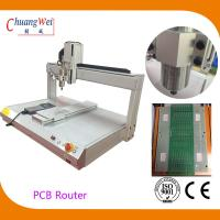 White PCB Depaneling PCB Router Machine with 500mm/s Cutting Speed Manufactures