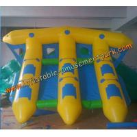 Buy cheap Yellow Inflatable Boat Toys , Inflatable Flyfish Boat Towable 4m x 4m from wholesalers