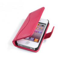 Red, White Plain Leather Iphone4 Protective Cases / Case with Credit Card Holder Manufactures