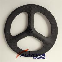 Buy cheap carbon tri-spokes clincher rear wheel,3 spoke bike wheels,fixed gear carbon spoke wheels from wholesalers