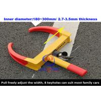 Buy cheap A3 Steel SUV / Motorcycle /  Motorhome Wheel Clamps Suit Width 180 - 300mm Wheel from wholesalers