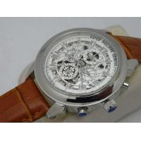 Patek Philippe Men's Automatic Mechanical Skeleton SS/RG Case Leather Strap