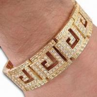 Buy cheap Charms Bracelet, Made of Steel and Brass Chain, Lead or Nickel-free from wholesalers