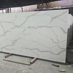 Buy cheap Cut - To - Size Artificial Quartz Stone , White Quartz Kitchen Worktops from wholesalers