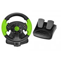 Buy cheap PC / X-INPUT / P3 / XBOX 360 All in One VIdeo Game Steering Wheel with Foot Pedal from wholesalers