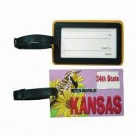 Buy cheap 3D Level Promotional Sports PVC Luggage Tag w/ Paper Name Card/Customized Label, from wholesalers