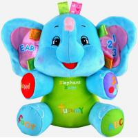 Buy cheap Talking Blue Elephant Cute Baby Plush Toys With Music Animals For Baby Learning from wholesalers