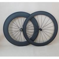 Buy cheap 700C Carbon Wheelset 60mm+88mm clincher road bicycle wheel R13 Hubs and aero pillar spokes from wholesalers