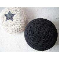 Buy cheap the direct source factory Knitted pouf/handmade floor cushion/bean bag/hassock /chair/footstool/Cotton Cord Pouf from wholesalers