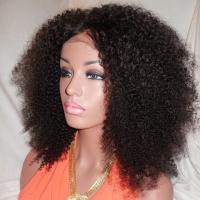 Buy cheap Kinky Curly Human Natural Hair Silk Top Glueless Full Lace Human Hair Wig 24inch from wholesalers