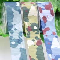 Buy cheap Heat Transfer Polyster Ribbon , Camouflage Thick Grosgrain Ribbon For Garment Accessories from wholesalers