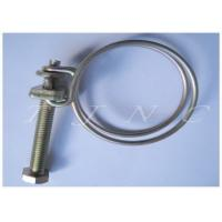 Stainless Steel Double Wire Hose Clamps W4 19-22 For Petrol-chemical Industry Manufactures
