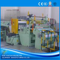 China Customized Steel Coil Slitting Machine , Metal Slitting Machine 220V With SKD11 Blade on sale