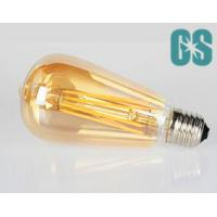 ST64 8W Vintage Dimmable Golden Glass Amber Glass LED filament Lamp E26 / E27 Warm White Manufactures