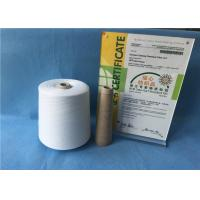 China Knotless Natural White Sewing Machine Thread 100% Polyester Yarn For Jeans / Shoes on sale