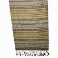 Buy cheap Scarf, Customized Specifications are Accepted, Measuring 67x178 +10x2cm from wholesalers