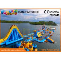 Wholesale High Durability Floating Inflatable Water Park Blue And Yellow Color from china suppliers