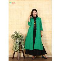 Buy cheap Breathable Green Cotton Double Layer Coat Chinese Style With L XL XXL Size from wholesalers