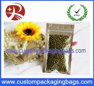 China 9cm  x 16 cm Food Packaging Bags 3 Side Seal Zipper Pouch waterproof on sale