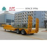 Wholesale 20 To 50 Tons 2 Axles Lowboy Trailer With Hydraulic Ramp Tires exposed Type from china suppliers
