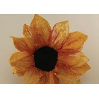 Wholesale silk and plastic curtain  flowers from 1 inch to 7 inch with screw and stem from china suppliers