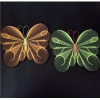Buy cheap Garment Butterfly 3D Embroidery Patch  Embroidery Badge Applique from wholesalers