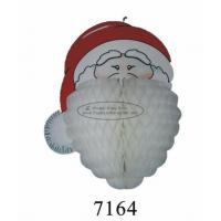 Buy cheap Customized 3D Paper Hanging Christmas Decorations Santa Claus Honeycomb Craft from wholesalers