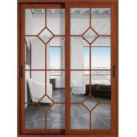 Buy cheap German hardware 1.6mm profile thickness aluminum sliding glass doors with fly screen from wholesalers