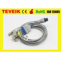China Biosys 5 Lead ECG Cable and Leadwires IEC with Snap Connector Redel 6 pin on sale