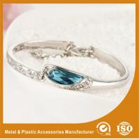 Wholesale Fashion Thin Metal Bangles Bracelets With A Blue Stone 18K Gold Jewelry from china suppliers