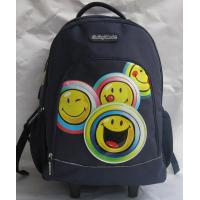 Buy cheap Navy Children Rolling Backpack School Student Wheeled Book Bag 210D Lining from wholesalers