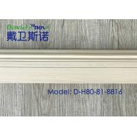 Wholesale Moisture Proof White Color Decorative PVC Skirting Board 15mm X 80mm For Floor from china suppliers