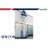 Buy cheap Mobile elevating work platform safety single / double mast Aerial working platform from wholesalers
