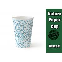 Buy cheap Beautuful Wedding Blue Paper Cups Edge Hardness For Drinking Tea / Coffee from wholesalers