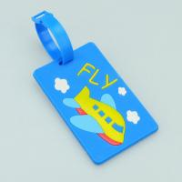 Wholesale funny airplane hard PVC card luggage tag from china suppliers