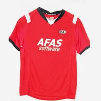 Buy cheap Bright Red Jersey Football Shirts UV Protection Cool And Comfortable from wholesalers