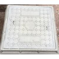 Buy cheap Sewer cover composite resin manhole covers gray square 500*500mm thick 65mm weight 29kgs from wholesalers