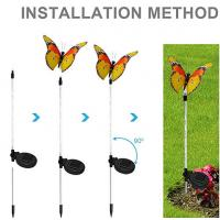 Buy cheap Garden Decorative Solar Fiber Butterfly Light With Purple LED Light Stakes Multi - Color Changing from wholesalers