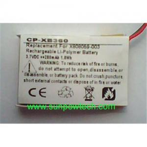 China Microsoft Xbox 360 Wireless Headset battery X808059-003 on sale