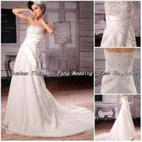 2012 Beaded Ruffled Wedding Dress Manufactures
