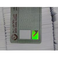 Buy cheap Contactless Smart Card OEM Hologram Sticker Security ID Card with CMYK printing from wholesalers