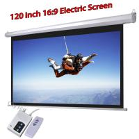 Buy cheap Wholesale Low Cost Electric Projector Screen 120inch HD Projection Screens 16:9 Support 3D from wholesalers