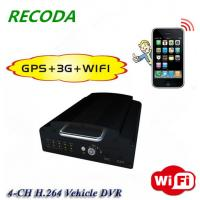 4Ch Vehicle Mobile DVR , 2.5 Inch 1TB HDD 12V DC Vehicle DVR With Wireless 3G