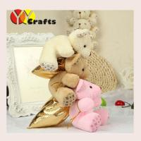 Wholesale Bear Wedding Favor Candy Boxes Cute Bear Baby Shower Red / Purple from china suppliers