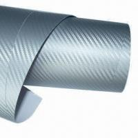Buy cheap Silver Auto/Car Sticker/Carbon Fiber Vinyl Film with Air-free Bubble, Automobile Wrap from wholesalers