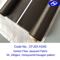 Wholesale Honeycomb / Hexagon Pattern 3K Carbon Fiber Jacquard Fabric for composite parts from china suppliers